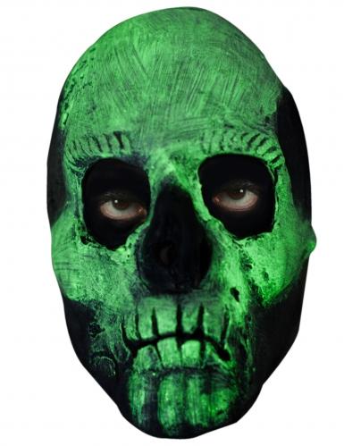 Masque squelette phosphorescent adulte-1