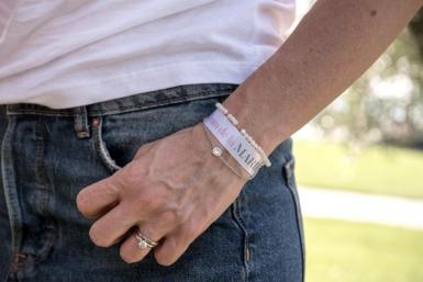 6 Bracelets en tissu team de la mariée-1