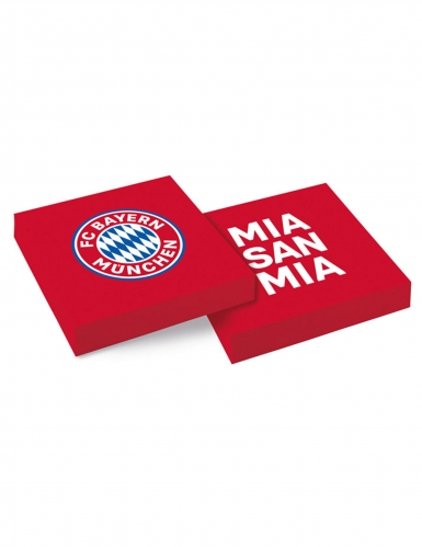 20 Serviettes en papier FC Bayern Munich™ 33 x 33 cm