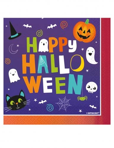 16 Serviettes en papier Halloween Friends 33x33 cm
