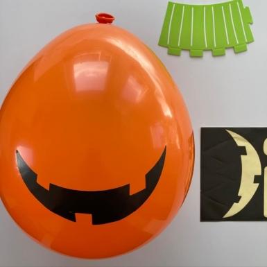 2 Ballons latex DIY Halloween Friends 30 cm-2