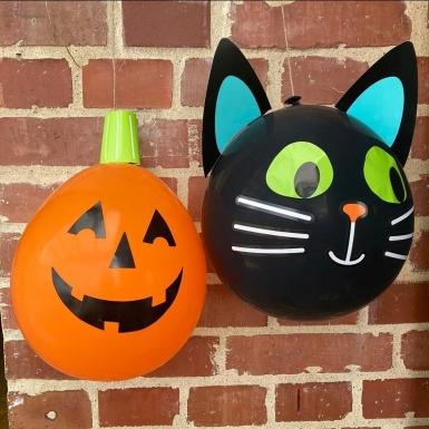 2 Ballons latex DIY Halloween Friends 30 cm-3
