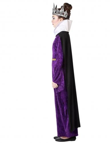 Déguisement méchante reine violette fille-1
