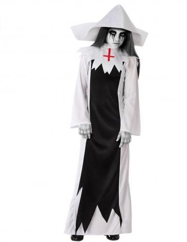 Déguisement religieuse zombie fille