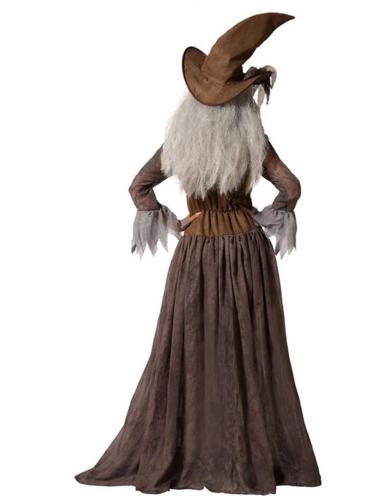 Déguisement avec chapeau sorcière marron femme-2