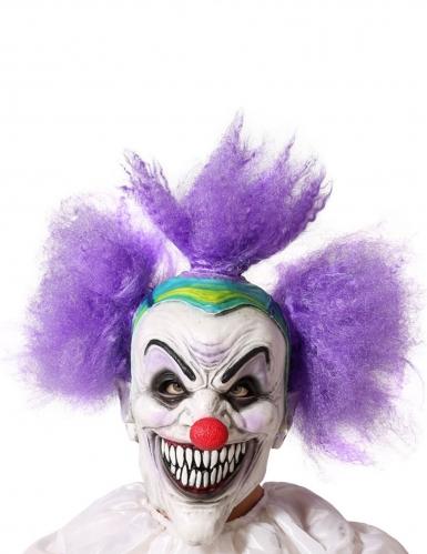Masque clown déjanté adulte