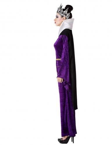 Déguisement méchante reine violette femme-1