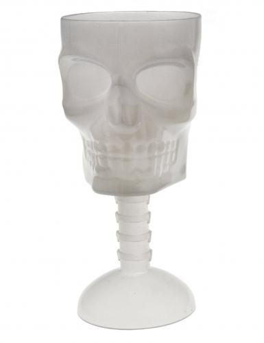 Verre tête de mort phosphorescent 18 cm