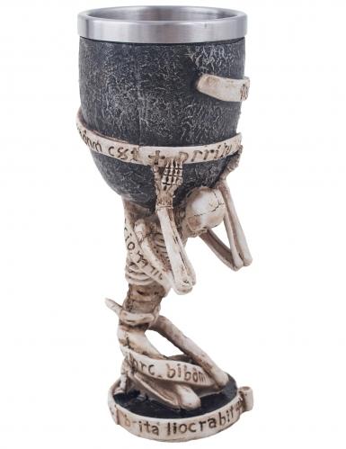 Verre porté par squelette 18 cm