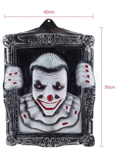 Cadre lumineux clown effrayant 40 x 50 cm-1
