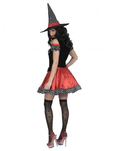 Déguisement sorcière polka femme-1