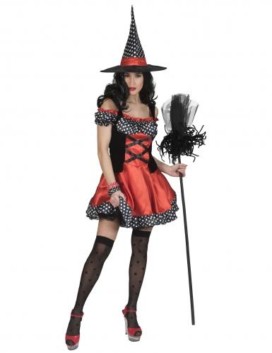 Déguisement sorcière polka femme