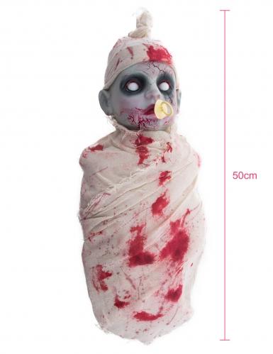 Bébé zombie ensanglantée lumineux et sonore 50 cm-1