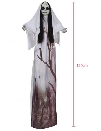 Décoration lumineuse femme fantôme 120 cm-1