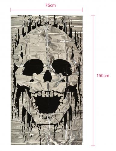 Décoration de porte squelette 75 x 150 cm-1