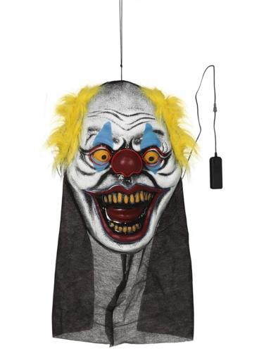 Décoration géante tête de clown 95 x 35 cm