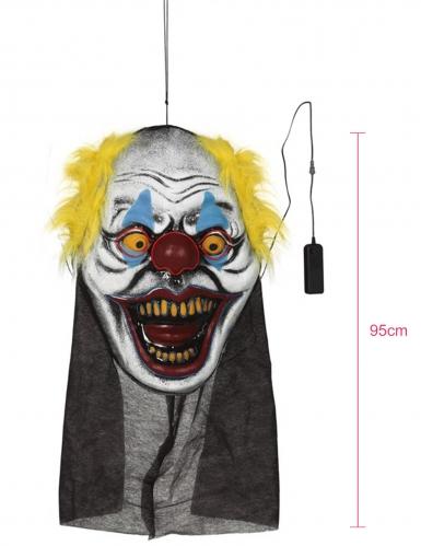 Décoration géante tête de clown 95 x 35 cm-1