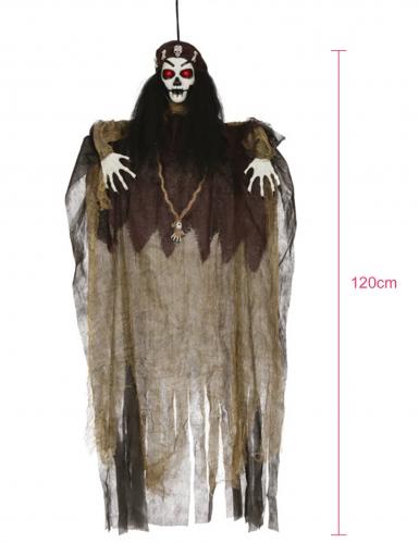 Décoration lumineuse sorcière vaudoo 120 cm-1