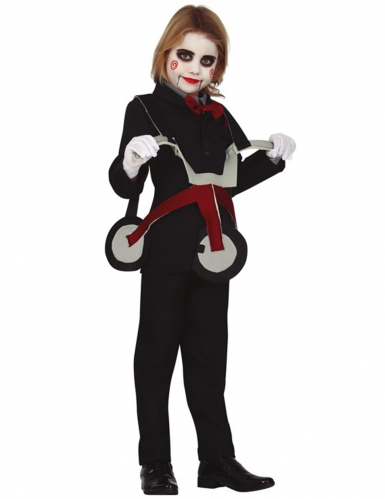 Déguisement poupée sur tricycle enfant