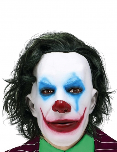 Masque Mr Smile avec cheveux adulte