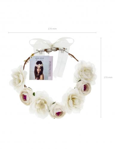 Couronne de fleurs blanches 17 cm-2