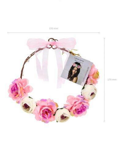 Couronne de fleurs roses 17 cm-2