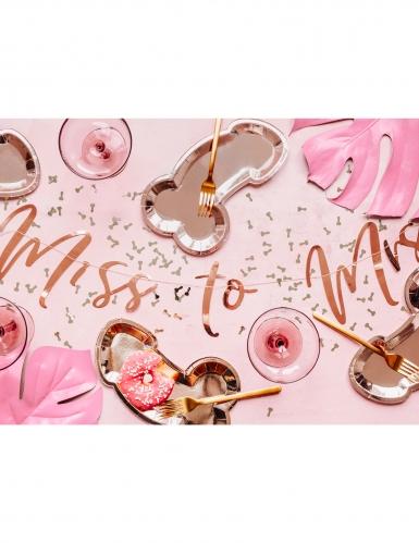 6 Assiettes en carton zizi rose gold 26,5 x 15,5 cm-1