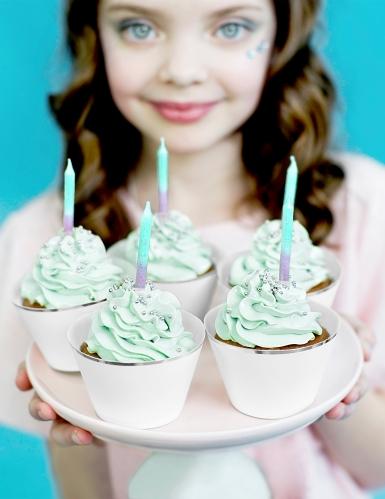 20 Bougies d'anniversaire sirène 6 cm-2
