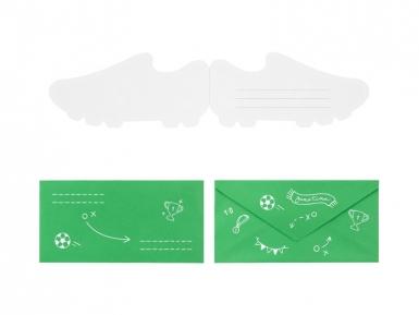 6 Cartes d'invitation chaussures de foot 19,5 x 9 cm-1