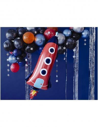Ballon en aluminium fusée 44 x 115 cm-1