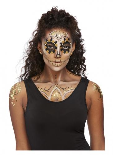 Kit maquillage et bijoux doré femme