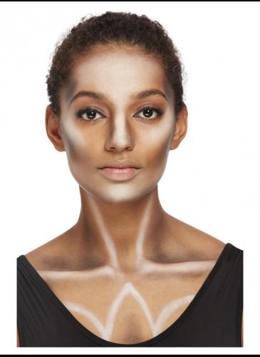 Kit maquillage et bijoux doré femme-2