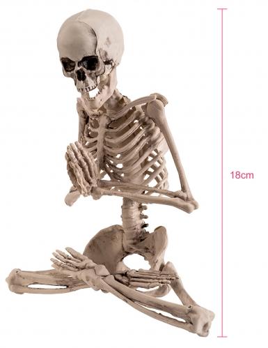 Décoration squelette yoga 18 cm-1