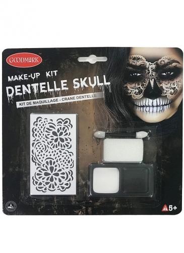 Kit maquillage squelette en dentelle femme