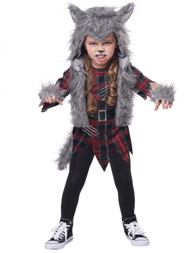 Déguisement loup garou gris fille