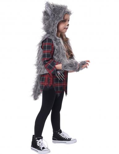 Déguisement loup garou gris fille-1