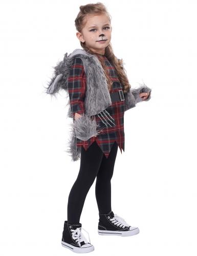 Déguisement loup garou gris fille-2