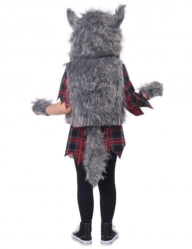 Déguisement loup garou gris fille-3