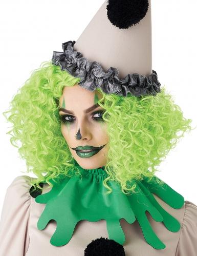 Perruque clown verte adulte-3
