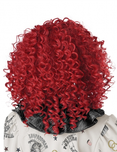 Perruque clown rouge adulte-2