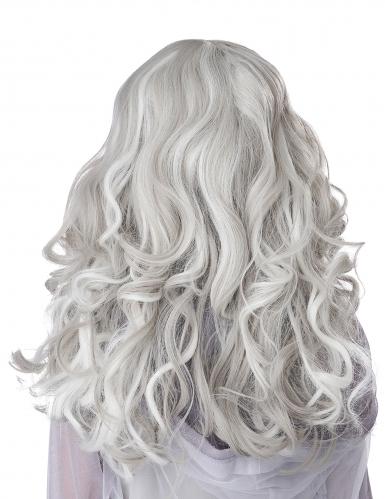 Perruque longue grise phosphorescente enfant-2