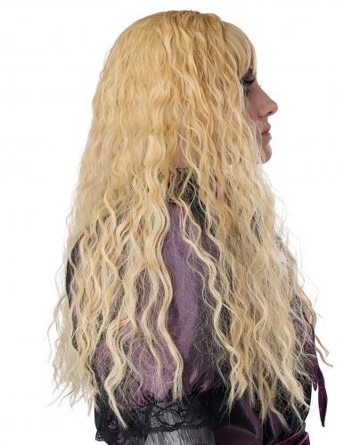 Perruque longue ondulée blonde enfant-2