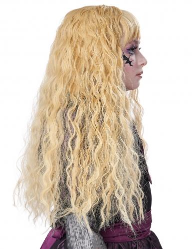 Perruque longue ondulée blonde enfant-3