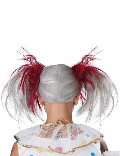 Perruque couettes rouge et blanc phosphorescente enfant-3