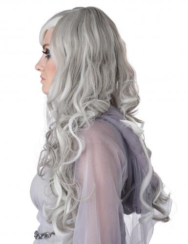 Perruque longue grise phosphorescente femme-1