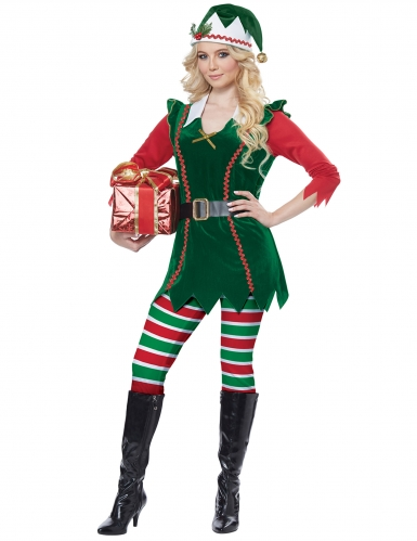 Déguisement elfe de Noël femme