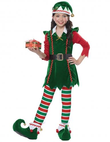 Déguisement elfe de Noël fille