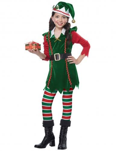 Déguisement elfe de Noël fille-1
