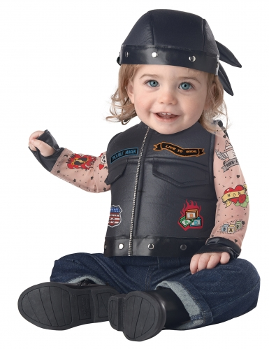 Déguisement motard bébé-1