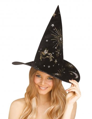 Chapeau de sorcière constellations adulte